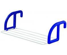 Leifheit 83046 Stendibiancheria da Balcone Classic 25, blue/white, metallo, per interni