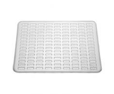 InterDesign Syncware Tappetino Lavandino, Grande, Vinile, Trasparente, 30.5x40x0.2 cm