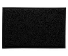 Andiamo 700625 - Zerbino cattura sporco, tinta unita, nero, 80 x 120 cm