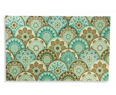 Villa d'Este Home Tivoli 2417540 Tappetino Cerchi, Poliestere, Multicolore, 95x60x0.3 cm
