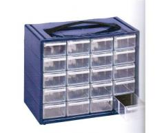 Cassettiera Monoblocco Mobil Plastic Espace 20 in Resina Antiurto e Cassetti Infrangibili con Fermo e divisori estraibili.