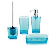 Kela, Set accessori bagno in polistirene, 4 pz. 390055 türkis, Blu (Türkis)