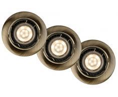 Lucide 11001/15/03Â A + +, Faretto, in alluminio, 5Â W, GU10, bronzo, diametro 8,1Â x 6Â cm