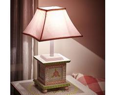 Lampada bambini Crackled Rosa comodino ufficio luce notturna camera bambine w-5069ge