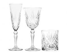 Rcr 735112 12 Calici e 6 Bicchieri, Vetro, Trasparente