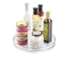 iDesign Organizer cucina, Grande portaspezie girevole in plastica priva di BPA, Porta spezie ideale anche per conserve e altri utensili, trasparente