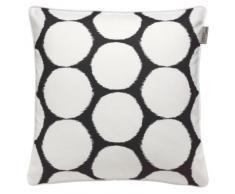 Schöner Wohnen 50452 011 50 50 Shape - Federa per cuscino a pois, dimensioni 50 x 50 cm, colore: Nero