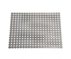 InterDesign Orbz Tappetino scolapiatti, Grande tappetino protettivo per stoviglie in plastica da tagliare su misura, grigio grafite