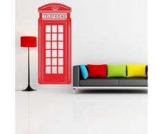 Adesiviamo Wall0000654 R L Adesivo da Parete, PVC, Rosso, 120 x 51 cm