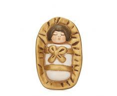 THUN® - Gesù Bambino nella Mangiatoia - Versione Bianca - Statuine Presepe Classico - Ceramica - I Classici