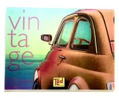 Outlook Design Ted Large Tagliere Temperato Modello 4, Vetro, Disegno Vintage, 39.50 x 29.50 x 0.4 cm