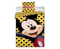 Set di copripiumino letto in cotone 100% Disney Mickey