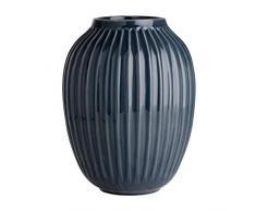 Kähler Hammershoi Vaso, Porcellana, Antracite, 20cm