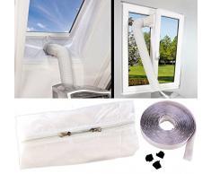 Sichler Haushaltsgeräte - Condizionatore Aria condizionata, Uscita: Guarnizione Finestra per climatizzatori mobili, Hot Air Stop (climatizzatore per finestre)