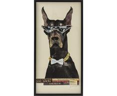 KARE Cool Dog Quadro, Multicolore, 3.8 x 61 x 121 cm