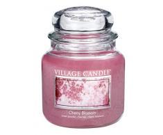 Village Candle 106316332 Cherry Blossom Vaso Medio, Vetro, Rosa, 10.3 x 10.1 x 12.4 cm