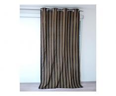 Soleil docre Tenda con occhielli Honore, 140 x 250 cm, colore: Cioccolato
