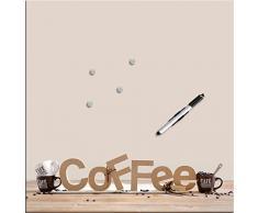Eurographics - Lavagna magnetica, 50 x 50 cm, motivo: Coffee