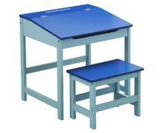 Premier Housewares 2402524 Set Scrivania e Seggiolino per Bambini, 57x55x48 cm, Blu