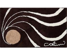 Grund 18-4040 - Tappeto da bagno, design di Luigi Colani, Acrilico/Dolan, marrone, 80 cm x 150 cm (B x L)