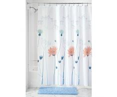 InterDesign 64120EU Floral Meadow Tenda Doccia, Tessuto, Blu, 100x183x180 cm