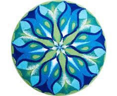 Grund Silent Glow Tappeto per Il Bagno, Poliacrilico Supersoft, Blu Verde, 60 cm