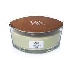 Woodwick Ellipse Candela Profumata con Stoppino Scoppiettante, Salice, Fino A 50 Ore, Cera, Giallo, 19x12 cm, 2 unità