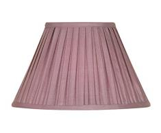 Oaks Lighting - Paralume in tessuto plissettato, stile funghetto, 35 cm Vinaccia/viola
