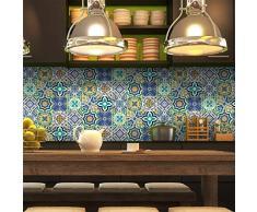 Ambiance-Live Piastrelle adesive da Parete,Tipo Azulejos,20x 20cm, Imitazione Cemento (Confezione da 9)