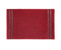 Vossen Cult Deluxe - Asciugamani, Colore: Rosso Rubino Tinta Unita 30 cm x 50 cm Rosso