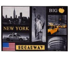 Andiamo 1100333 Tappeto New York City, tappeto con città, multicolore, 50x70