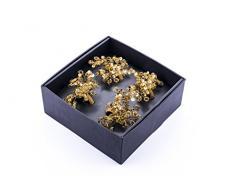 LegendArte LH-014 Allacciatovaglioli Anelli Portatovaglioli Gioiello, Metallo, Oro, 19x19x7 cm, 4 unità