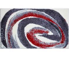 Grund Colani 42 Tappeto per Il Bagno, Poliacrilico Supersoft, Rosso Grigio, 70x120 cm