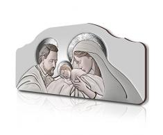 Lupia Quadro capezzale Sacro 50x100 cm The Kiss Ceramic Grey su tavola Lavorata