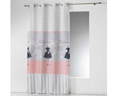 Douceur d interno tenda a occhielli microfibra Imprimee Couture, Poliestere, multicolore, 280Â x 140Â cm