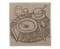 Eiffel Textile Set di Strofinacci Cucina Jacquard Plats, Cotone, Multicolore, 50Â x 50Â x 10Â cm, 3Â Pezzi