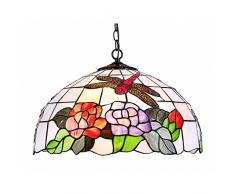 Interfan lampada a sospensione tiffany libellula E27, Multicolore