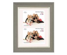 Inov 8 PFE LWDG-DA1 tradizionali foto e cornici britannici, 20 x 30 cm, doppia visiera 2x 10 x 15 cm, confezione da 4, grande lavaggio grigio scuro