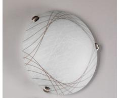 Onli Plafoniera Graffio, Bianco, 30cm