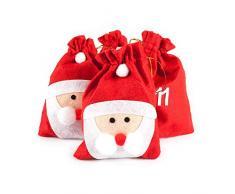 Pajoma 50209.0 Calendario dellAvvento, Babbo Natale, 24 bustine