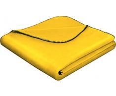 biederlack 714930 Coperta, Cotone, Yellow, 150 x 200 cm