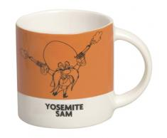 Excelsa Looney Tunes Tazza caffè Yosemite Sam 100 ml, Porcellana, Arancio Scuro, 5.9x5.9x5.9 cm