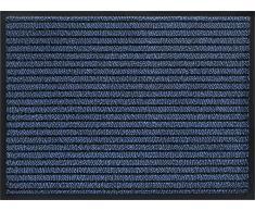 ID Opaco 608005 Gramat Tappeto Zerbino in Fibra, PVC e Polipropilene, 80 x 60 x 0,8 cm, Blu, 60 x 80 cm