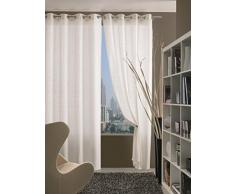 Home Collection TIF115 Tenda Tiffany, Poliestere, Bianco, 140x280 cm