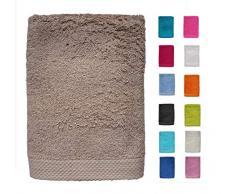 DHestia - Set di Asciugamani da Bagno e Doccia in Cotone 100% 500 gr/m2, Colori e Misure Grandi, Sabbia, 70 x 140 cm (Confezione da 2)
