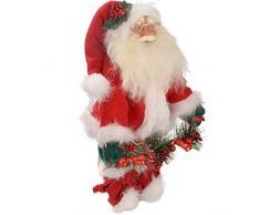 WeRChristmas - Decorazione Natalizia di 30 cm, Motivo: Babbo Natale, Colore Rosso/Bianco
