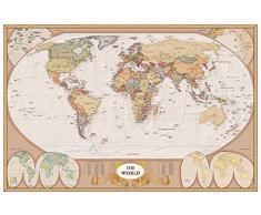 empireposter 728609 Educational – Cartina del mondo – anticato – Istruzione Poster – Maxi Poster versione in inglese – dimensioni 91,5 x 61 cm, carta, multicolore, 91,5 x 61 x 0,14 cm