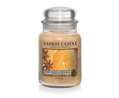 Yankee Candle Candela in Vasetto, Vetro, Orange, Medium