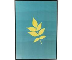 Kare Quadro Frame Leaf, Nero, 71 x 1.8 x 51 cm
