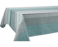 Le linge de Jules Tovaglia Antimacchia Leon Blu - Rettangolare 150x350 cm